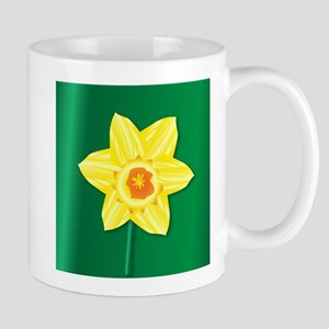 Daffofil Saint Davids Day Mugs